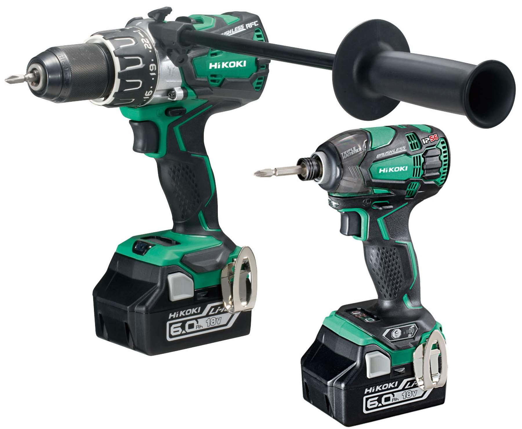 2 Pce 18V Cordless Kit with 6.0Ah Li-Ion Batteries