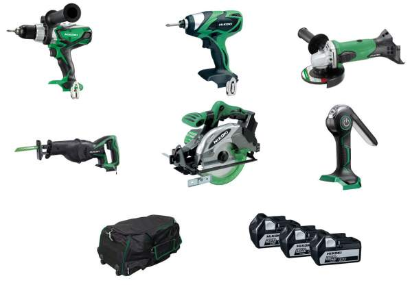 6 Piece 18V Cordless Kit (Reciprocating Saw) with 3 x 5.0Ah Li-Ion Batteries